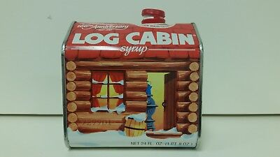 Vintage 1987 'log Cabin Syrup' 100Th Anniversary Commemorative Tin