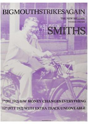 "the Smiths  - 24"" POSTER  - Bigmouth Strikes Again PROMO  Morrissey Johnny Marr"