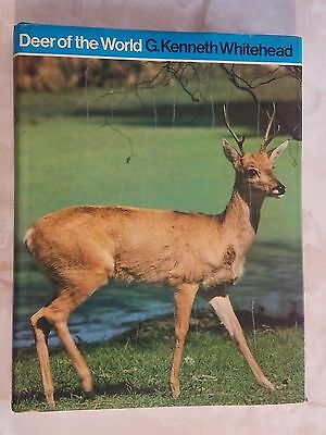 Deer Of The World G Kenneth Whitehead Book 1972 1St Ed. 40 Species Of Deer Mint!