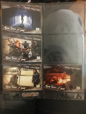 Topps The Walking Dead Season 8 Trading Cards- 4 Many Sides Of War Chase Cards