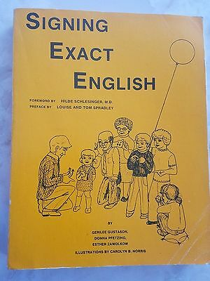 Signing Exact English by Gerilee Gustason FULL SIZE Large print Edition
