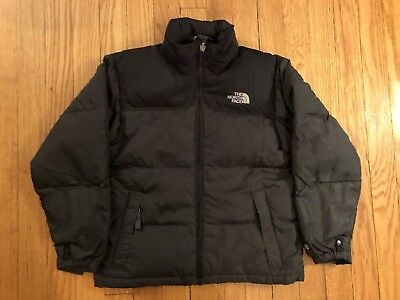 The North Face Youth Kids Size SMALL Down Filled Puffer Black 600 Jacket