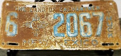 1950 New Mexico Truck License Plate