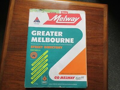 Melway Street Directory.Greater Melbourne Edition Number 24 Very good condition.
