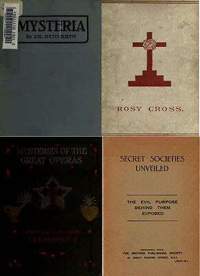 125 Rare Books On Secret Societies, Forbidden History, Illuminati, Temple On Dvd