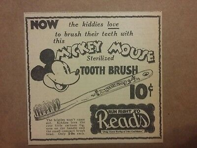 1935 Mickey Mouse Toothbrush Ad