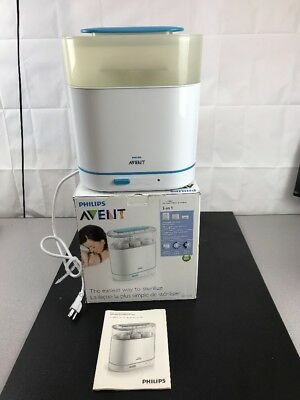 Philips Avent 3-in-1 Electric Steam Sterilizer BPA-Free Baby Bottle Cleaner