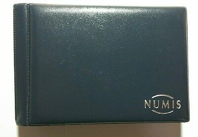 Numis Plain Cover Pocket Coin Album for 48 Coins with secure inserts + free gift