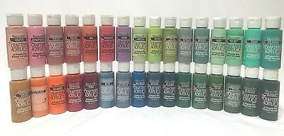 DecoArt Crafters Acrylic Paints - Set of 32 Asst Colours x 2oz bottles Bargain $
