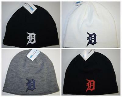 Detroit Tigers Cool Max Beanie ~Knit Cap ~CLASSIC MLB Patch Logo ~NEW d9ff32ceae4c