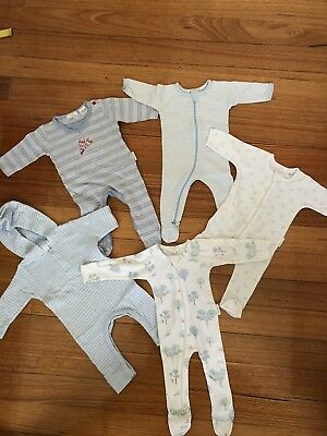 Purebaby Rompers X5 Size 000