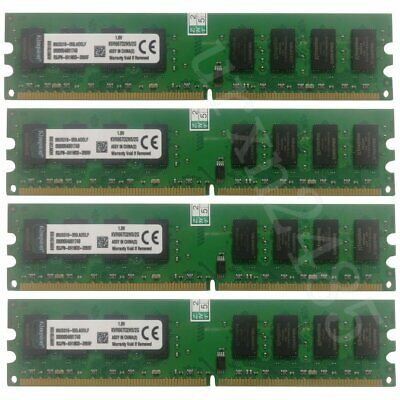 8GB (4x 2G) / 1G PC2-5300 DDR2-667 NON ECC Desktop Intel PC RAM For Kingston LOT