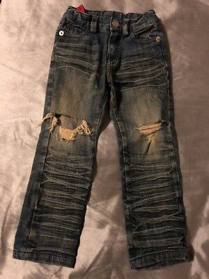 ROCK YOUR BABY Blue Jeans With Adjustable Waist Size 3 In Great Condition