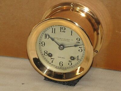 Chelsea Antique Ships Bell Clock~4 In Dial~1928~Red Brass~Restored