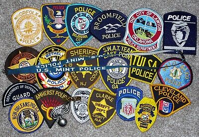 Lot of 20 Police patches