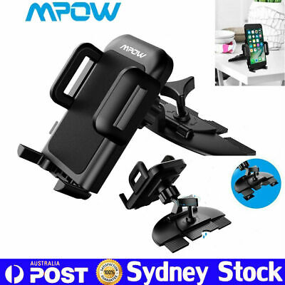 MPOW 360° Car Mobile Phone Holder CD Slot Mount Stand cradle For iPhone Samsung