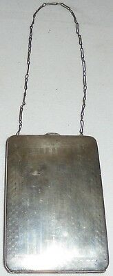 Antique Sterling Silver Webster Compact Coin Card Case Purse Wristlet