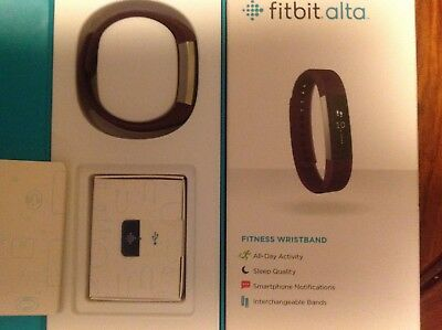 Fitbit Alta Fitness Activity Tracker, With A Purple Band