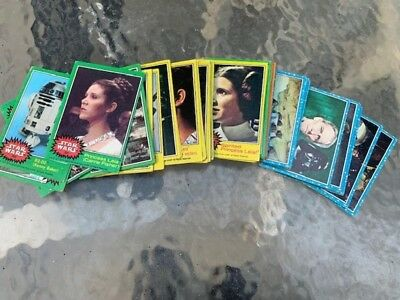 STAR WARS trading cards lot of 82 cards good condition 1977 20th Century Fox