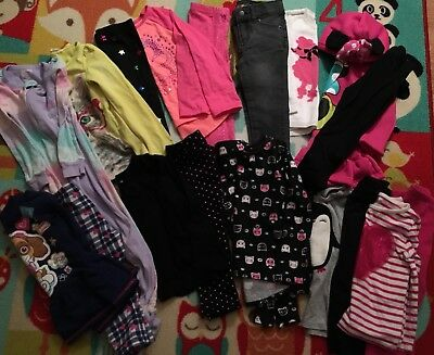 Girl Size 2T Large Lot Fall/Winter Cloths 19 Pieces - Makes 9 Outfits! EUC