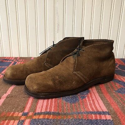 Brown Suede Mens 9.5 Vintage 60s Biltrite Crepe Sole Chukka Work Boots