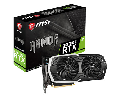 MSI GeForce RTX 2070 8GB ARMOR Boost Graphics Card