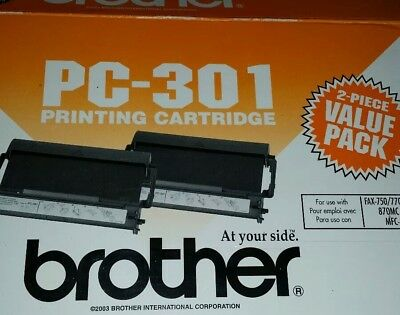 NEW BLACK Fax-Printing Cartridge-Genuine Brother PC-301 750 770 775 870 only 1