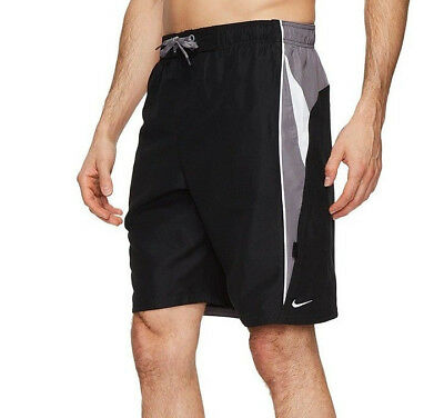 898240a2e2 Nike 9 Inch Swim Volley Shorts Mens Size: XL Black/Grey/White NESS8402