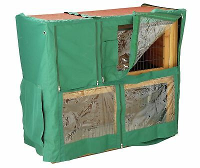 Double Tier Rain Cover For Rabbit Hutch Run Covers Pet Hutches Cages lazy bones