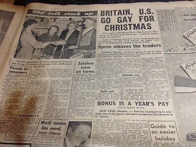 HISTORICAL NEWSPAPER - The Herald Tues 21st DECEMBER 1954 - 28 pages