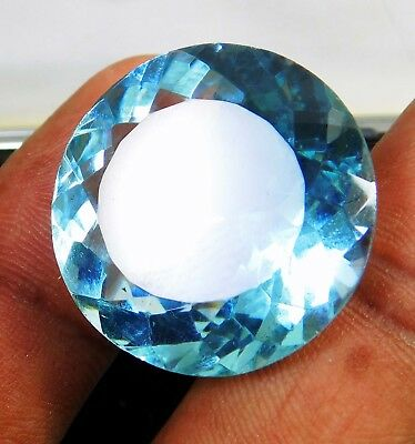 41.80 Ct Natural Round Cut Transparent Ocean Blue Aquamarine Loose Gems. 12459 Q