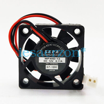 For For SEPA MF40D-12 12V 0.11A 4CM 4010 2-wire cooling fan