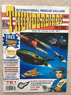 Thunderbirds The Comic #1 With Free Gift Badge - 1991 - Fleetway Comics - Nm