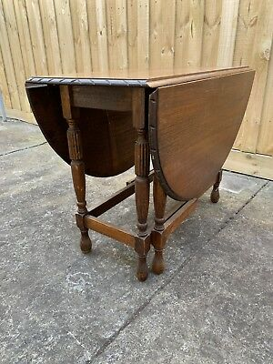Antique Timber Drop Side Table