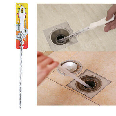 45cm Flexible Sink Overflow Drain Cleaning Brush Cleaner Kitchen Hair Removal