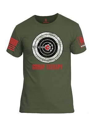 Battleraddle Group Therapy Red Sleeve Print Mens Cotton Crew Neck T Shirt