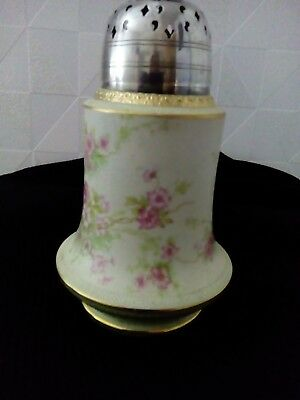 Woods burslem 1915 - 1932 antique ceramic and chrome sugar shaker