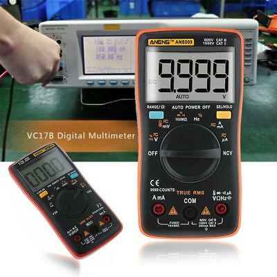 AN8009 True-RMS Digital Multimeter Kit 9999 Counts DC AC Voltage Tester With Bag