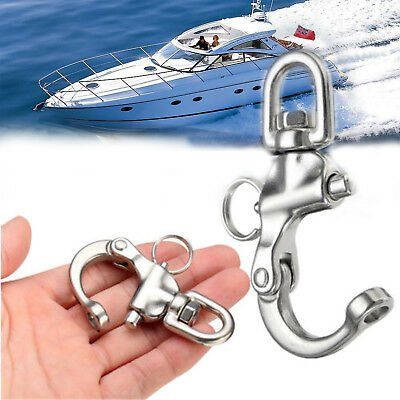 316 Stainless Steel Bail Snap Shackle Swivel Marine Boat Yacht Sailing Hardware