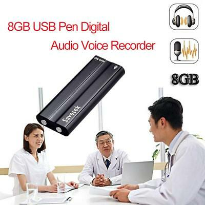 Mini 8GB USB Digital Audio Voice Recorder Disk Pen With  Clip Long Distance