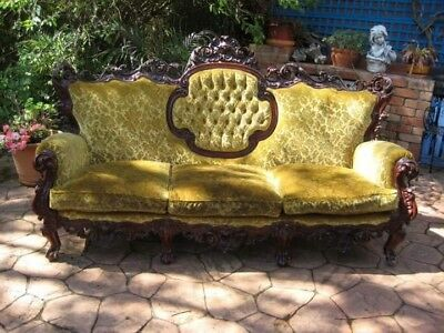 Antique FRENCH LOUIS STYLE VELVET  LOUNGE/SOFA