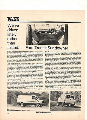 Original Vintage 1978 Ford Transit Sundowner Australian Feature