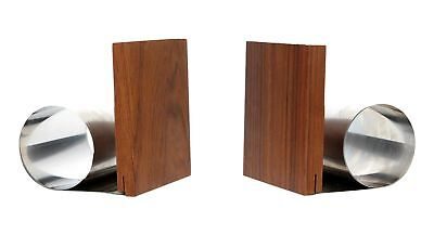 A pair of modernist midcentury teak bookends Danish ?