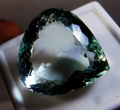 63.30 Ct Natural Pear Cut Translucent Ocean Blue Aquamarine Loose Gems. Q9599