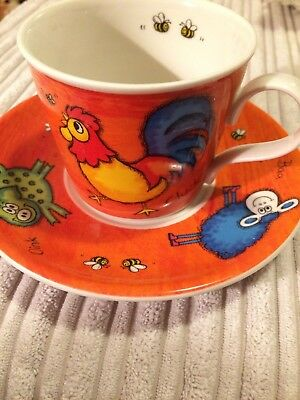 DUNOON FUNKY FARM by JANE BROOKSHAW CUP & SAUCER