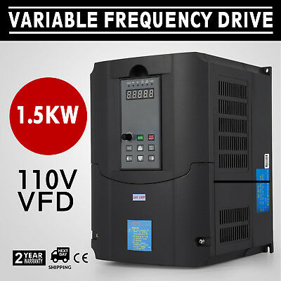1.5KW 110V Variable Frequency Drive 2HP VFD Close-Loop solutions Single Phase