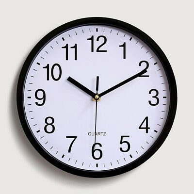 Round Quartz Wall Analog Clock Silent Non Ticking Battery Operated Home Supplies