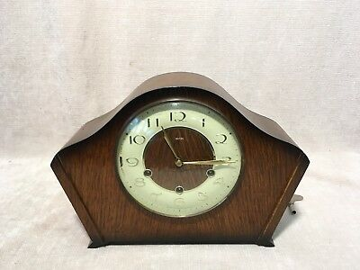 Vintage Smiths Westminster Chiming  8 Day  Mantle Clock