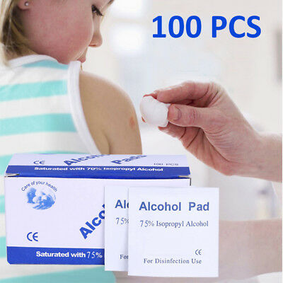 100 Top Grade Isopropyl Alcohol Antiseptic Swabs Wipes Cpu Heatsink Tattoo Nail