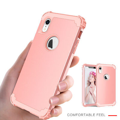 Hybrid Armor Shockproof Rugged Bumper Case Cover For Apple iPhone Xs Max XR X